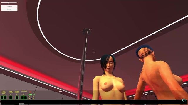 Porn game cg fight in a undress club