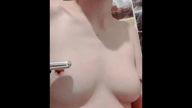 Using bullet sex tool on pierced teats